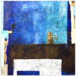 Abstrakte Kunst in Blau