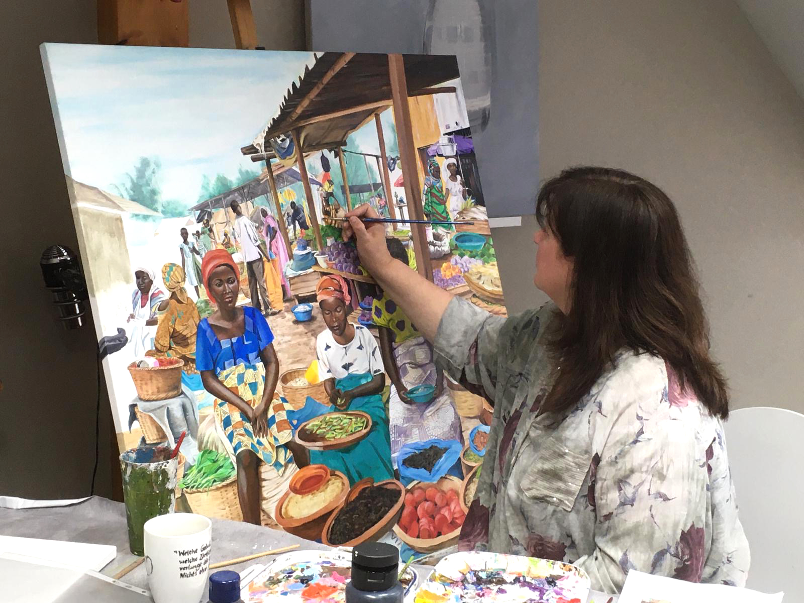 Arbeit an Afrika Gemälde