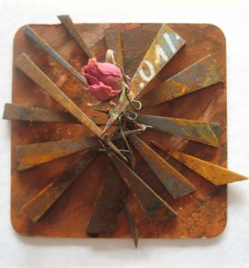 Rost, Rose, Acrylfarbe