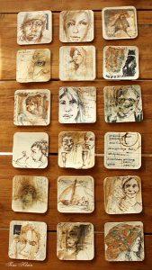 18 Bierdeckel Zeichnungen