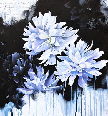 Blumenbild Acryl