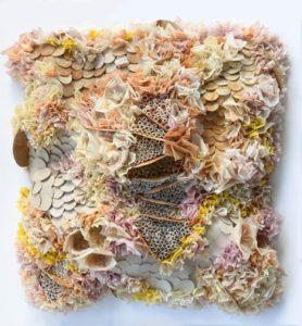 Korallenriff Wandrelief mit Teebeuteln