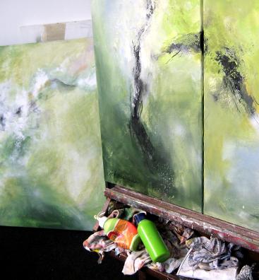 Informelle Kunst grün