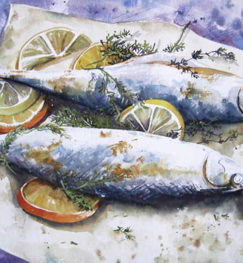 Aquarell Fische Fisch