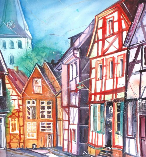 Aquarell Hattingen (2)