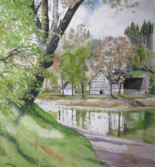 Aquarellbild Sauerland